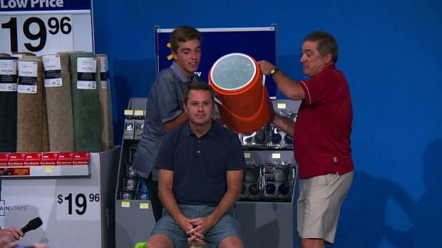 Doug McMillon taking Ice Bucket Challenge For ALS Awareness