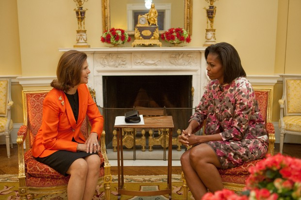 Michelle Obama with Queen Silvia of Sweden