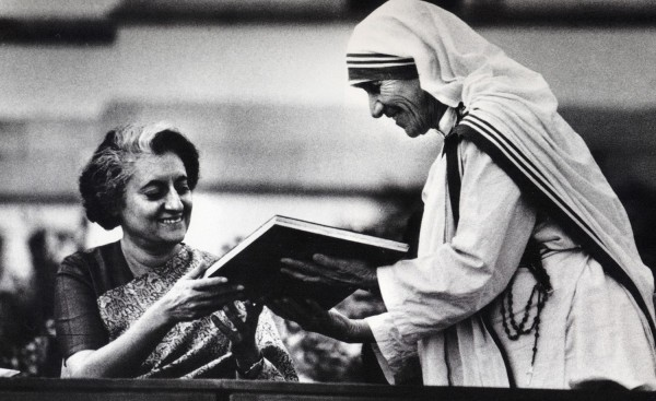 Indira Gandhi with Mother Teresa