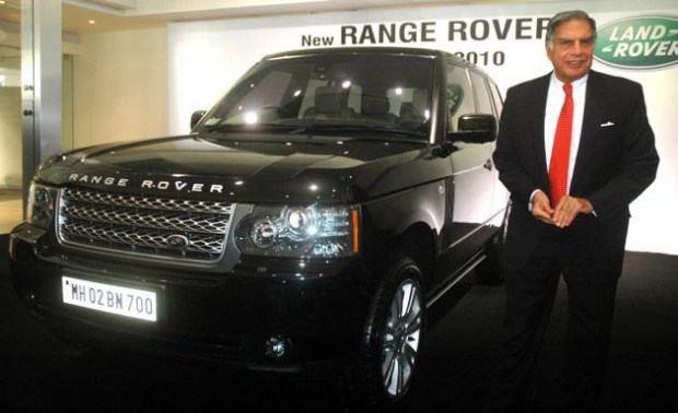 Ratan Tata with His Subsidary Product Range Rover