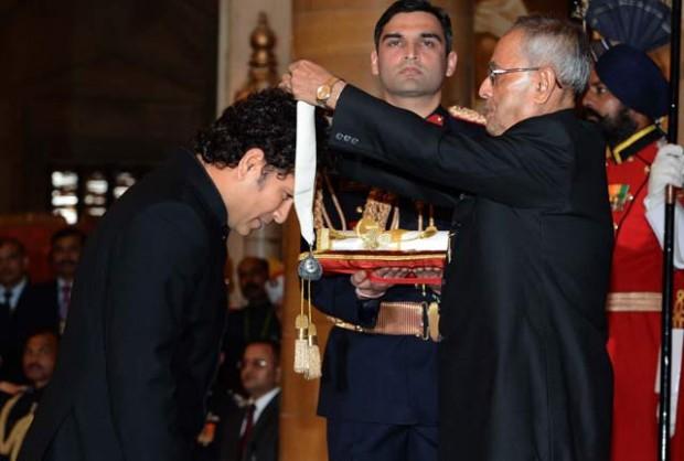 Sachin Receiving  India's Highest Civilian Award Bharat Ratna