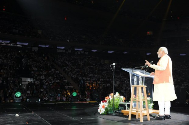 Modi Giving Speech at Madison Square Garden, New York City