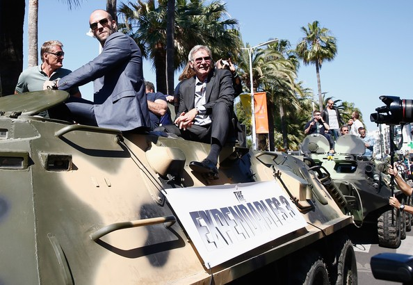Harrison Ford with Jason Statham at the 67th Annual Cannes Film Festival