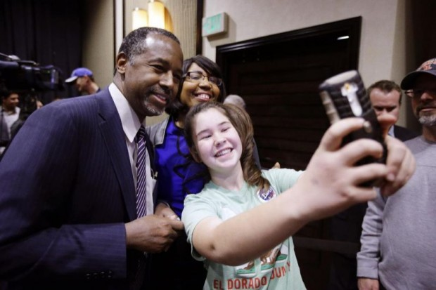 Ben Carson Having a Selfie With an Young Supporter