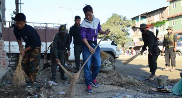 Mary Kom in Swachh Bharat Campaign