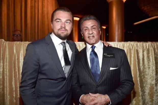 Leonardo DiCaprio With Sylvester Stallone
