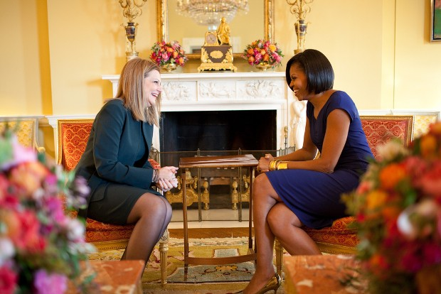 Michelle Obama With Mrs. Ada Papandreou