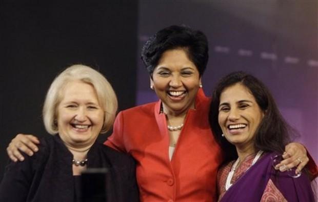 Indra Nooyi, Chanda Kochhar  with Melanne Verveer