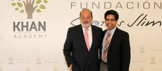 Carlos Slim Helu an alliance with Khan Academy