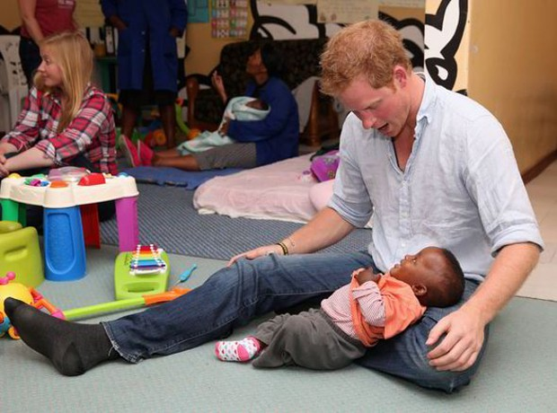 Prince Harry at orphanage