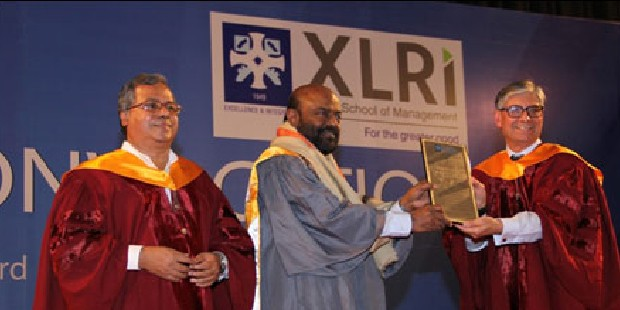 Shiv Nadar Receiving Doctorate From XLRI Management School