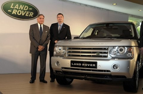 Ratan Tata with Phil Popham at Launch of Land Rover Fisrt Time In India