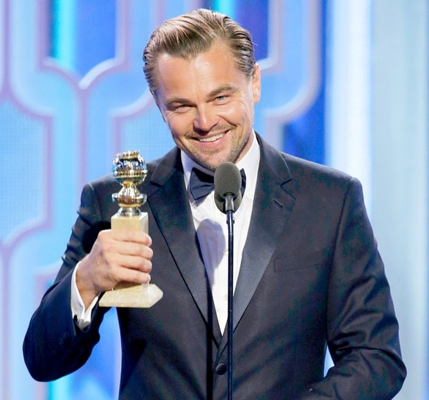 Leonardo DiCaprio Won Golden Globe Award for 'The Revenant'