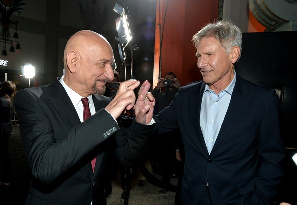 Harrison Ford with Ben Kingsley at 'Ender's Game' Premiere