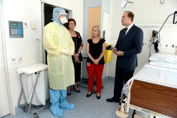 Peter Dutton At Royal Brisbane Hospital