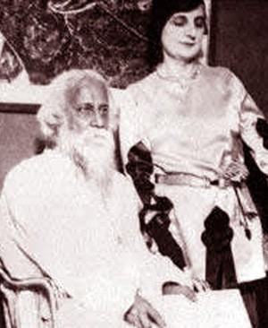 Rabindranath Tagore with Indira Gandhi
