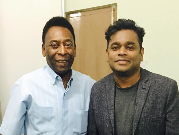 AR Rahman with Pele