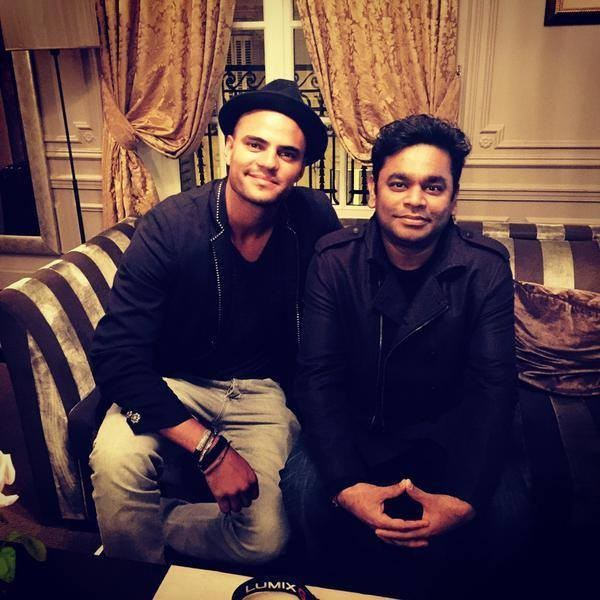 AR Rahman with Swedish Singer Mohombi
