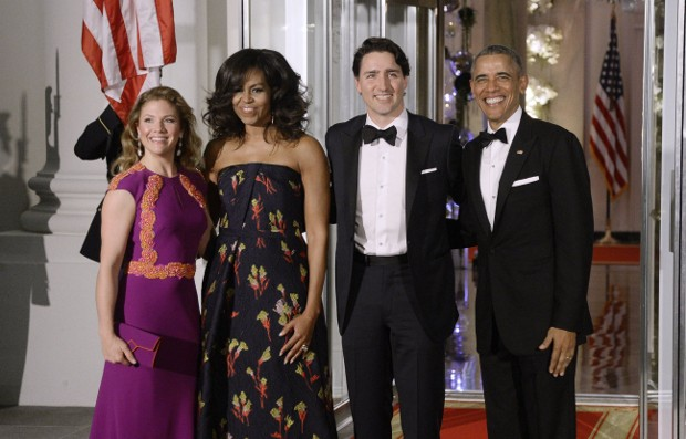 Michelle Obama With Canada Prime Minister Justin Trudeau