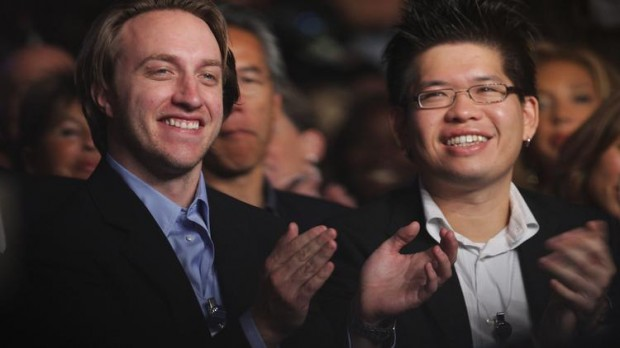 YouTube co-founders Chad Meredith Hurley, left, and Steve Chen are parting ways after Enlarge