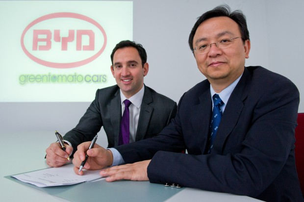 BYD Signs Aggrement with Greentomatocars