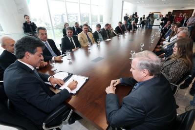 Walter Faria With Board Of Members
