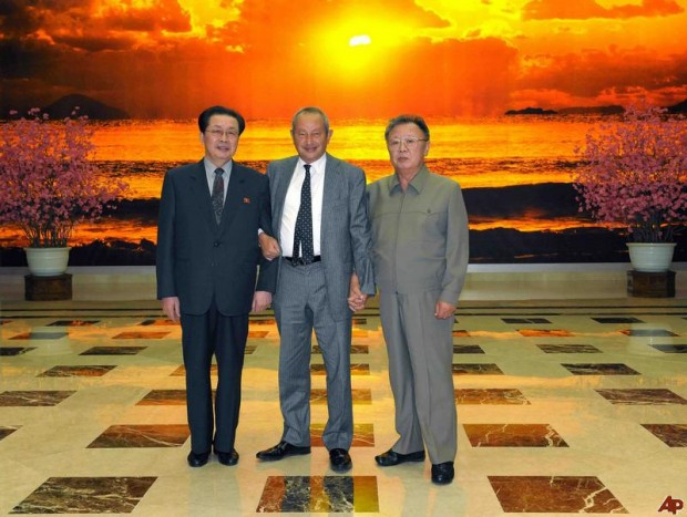 Nassef Sawiris with North Korea Executives