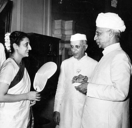 Indira Gandhi with Dr. S. Radhakrishnan