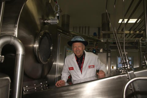Theo Muller Inside his  Dairy Plant