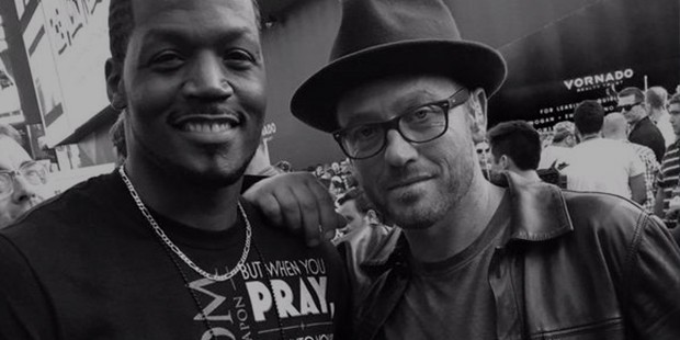 TobyMac with actor T.C. Stallings (War Room movie) at Luis Palau NYC event