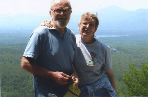Lois Lowry With Martin During Mountain Climbing