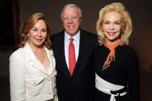 Nancy and Rich Kinder with Lynn Wyatt
