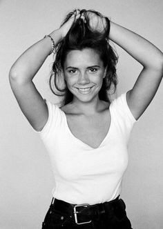 Victoria Beckham Young Modelling