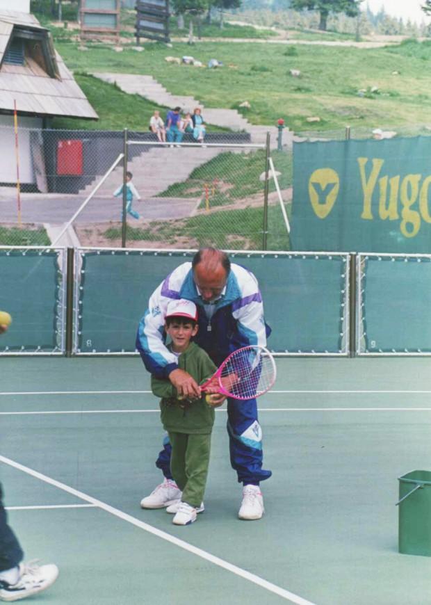Novak Djokovic  Learning Tennis