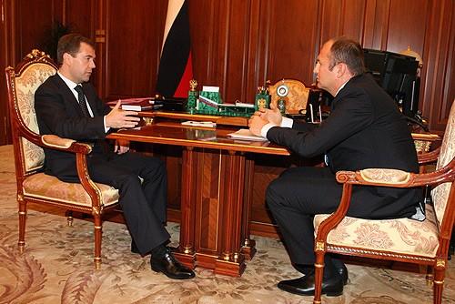 Dmitry Medvedev and Andrey Melnichenko