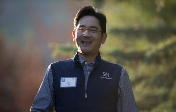 Lee Jae-yong, arrives for the first session of the annual the Allen and Co-conference at the Sun Valley