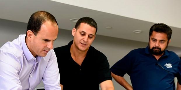 Marcus Lemonis, Fabio DiMaria With Faisal Khatri