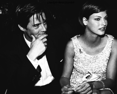 Kyle MacLachlan With Linda Evangelista attend a Party for Ed Wood