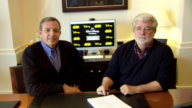 Bob Iger With George Lucas