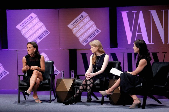 Anne Wojcicki, Bethany McLean, Laura Arrillaga-Andreessen At Vanity fair Summit