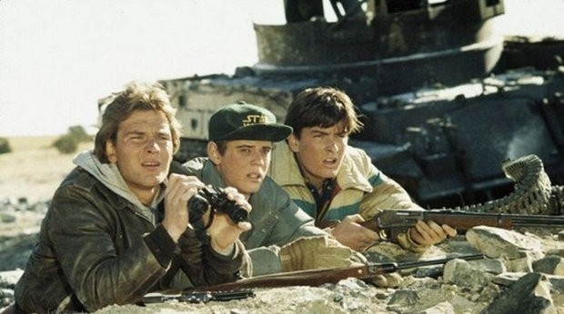 Charlie Sheen in the movie Red Dawn