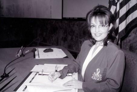 Sarah Palin (Young) at Office