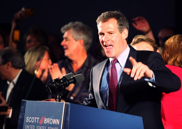 Scott Brown speaks to supporters after winning the Massachusetts U.S. Senate seat