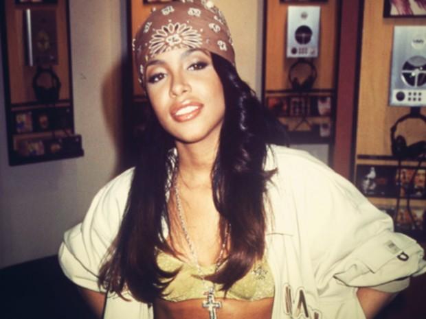 Aaliyah At His Studio