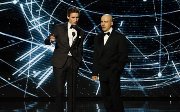 Actor Eddie Redmayne and entrepreneur Yuri Milner