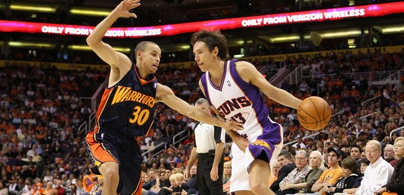Stephen Curry tried to Pressure Steve Nash