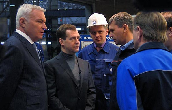 Viktor Rashnikov Visit to Plant