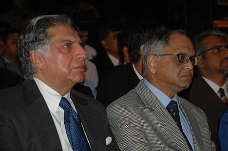 Ratan Tata with Narayan Murthy