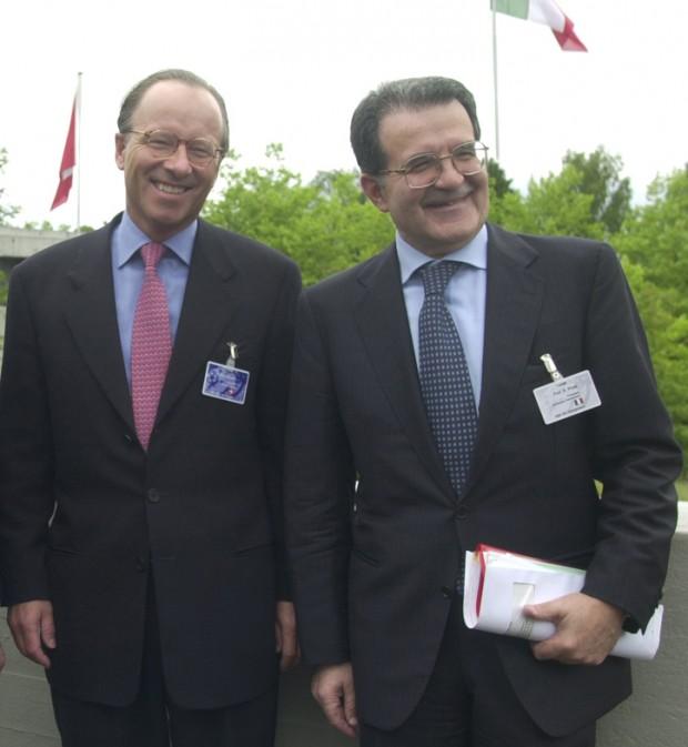 Stephan Schmidheiny with Romano Prodi