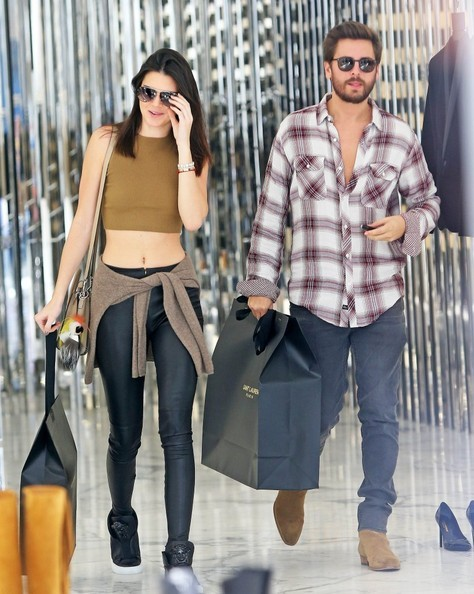 Kendall Jenner with Scott Disick